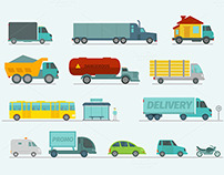 Transportation in sity, vector set. Only 3$.