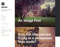 Raiden, WordPress Minimal Left Sidebar Ready Blog Theme