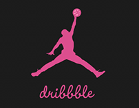 Michael Jordan Dribbble Logo