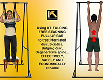 Folding KT free standing pull up bar