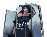 Chanel Iman for Forever 21 - OOH Campaign