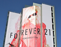 Charlotte Free for Forever 21 - OOH Campaign