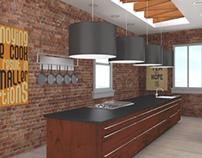 Wooden Kitchen ArchViz