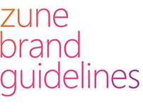 Microsoft Zune : Brand Guidelines