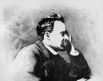 Friedrich Nietzsche Lithograph