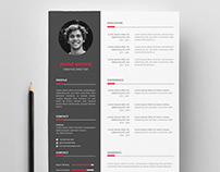 Free Vector Resume Template
