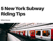 5 New York Subway Riding Tips