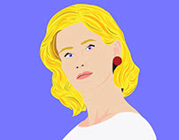 January Jones Vector Portrait