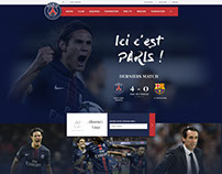 Paris Saint Germain Redesign - Free PSD