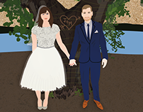 Kingsley Pines Wedding Invites