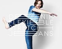 FLEXIBLE STRETCH JEANS | Fashion Campaign