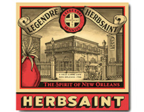 Herbsaint Packaging Label Illustrated by Steven Noble