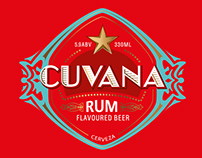Cuvana Rum Beer Packaging & Press Ads