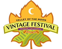 Valley of the Moon Vintage Festival logo design
