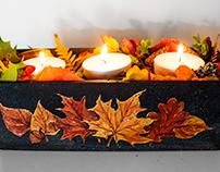 Leafy candleholder