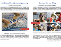 brochure swimming team