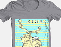Scooter illustration on a T-Shirt