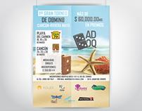 Poster Torneo de Domino, Cancún - Riviera Maya
