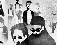 Noir de Monde - Stencil illustration serie