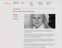 Chicago Design Museum Website