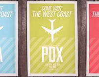 West Coast Vintage Travel Posters