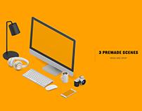 Isometric Office Mock-up