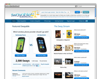 Swayable - UX Wireframes & Design
