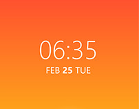 Time responsive home screen illustration
