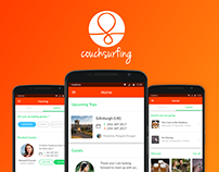 COUCHSURFING APP REDESIGN - UI/UX