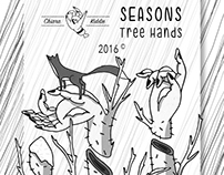 • Seasons • Tree hands • Illustrations