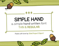 Simple Hand font.