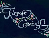 """Florian - Carolin"" Ambigram Print in Frame"