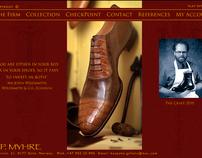 Webdesign and publishing for Norwegian shoemaker.