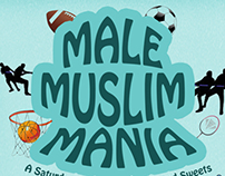 Male Muslim Mania - Community Game Day Event Flyier