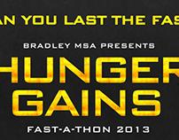 Hunger Gains : Fast-A-Thon Event Poster/Flyer