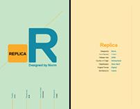 Replica Type Specimen