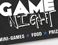 Game Night - Event Poster 2013