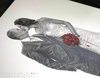 'Graham & Katie' - Wedding Sketch