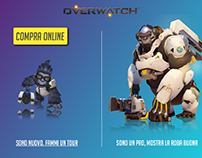 Overwatch website rework, made for my final exam
