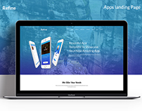 Refine Apps Landing Page