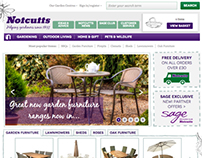 Notcutts website design