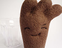 """Chok"" chocolate milk glass Art Toy"