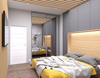 Wooden avangard bedroom