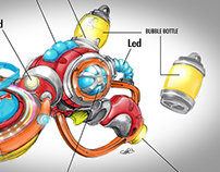 DESIGN OF UFO BUBBLE BLASTER®