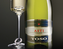 Slogan & Prints for the TOSO sparkling wines