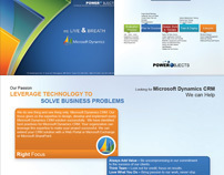 PowerObjects CRM Postcard and Proven Process Flyer
