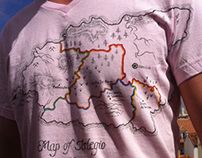 Map Of Islegio T Shirt
