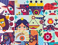 Horoscope illustration set