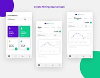 Crypto Mining App concept
