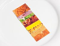 Edible Deconstructed Paper Burger